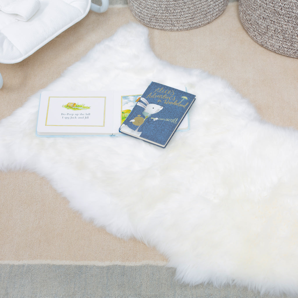Ivory Sheepskin Rug - Nursery Interior - The Baby Service