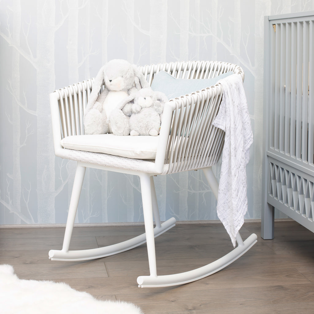 Woven Rocking Nursing Feeding Chair - The Baby Service