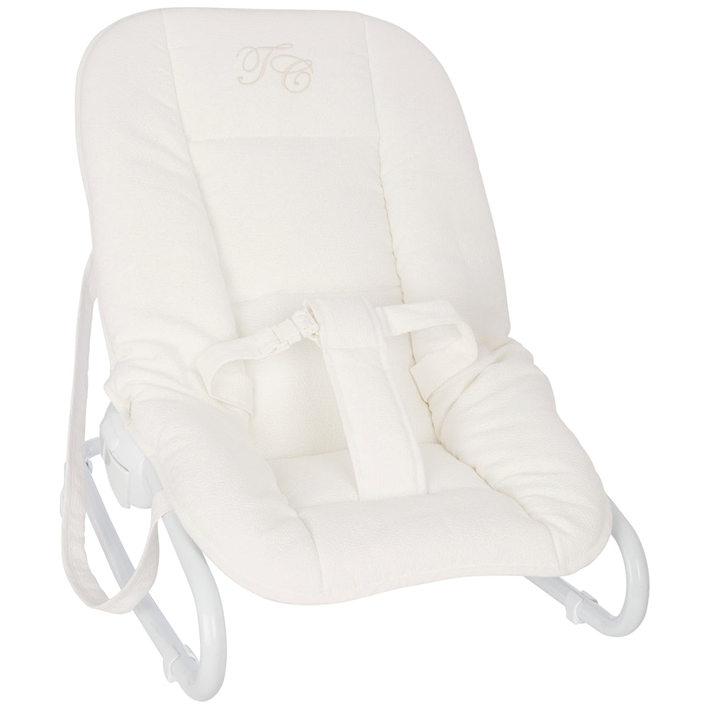 Tartine et Chocolat Luxury Baby Bouncer White