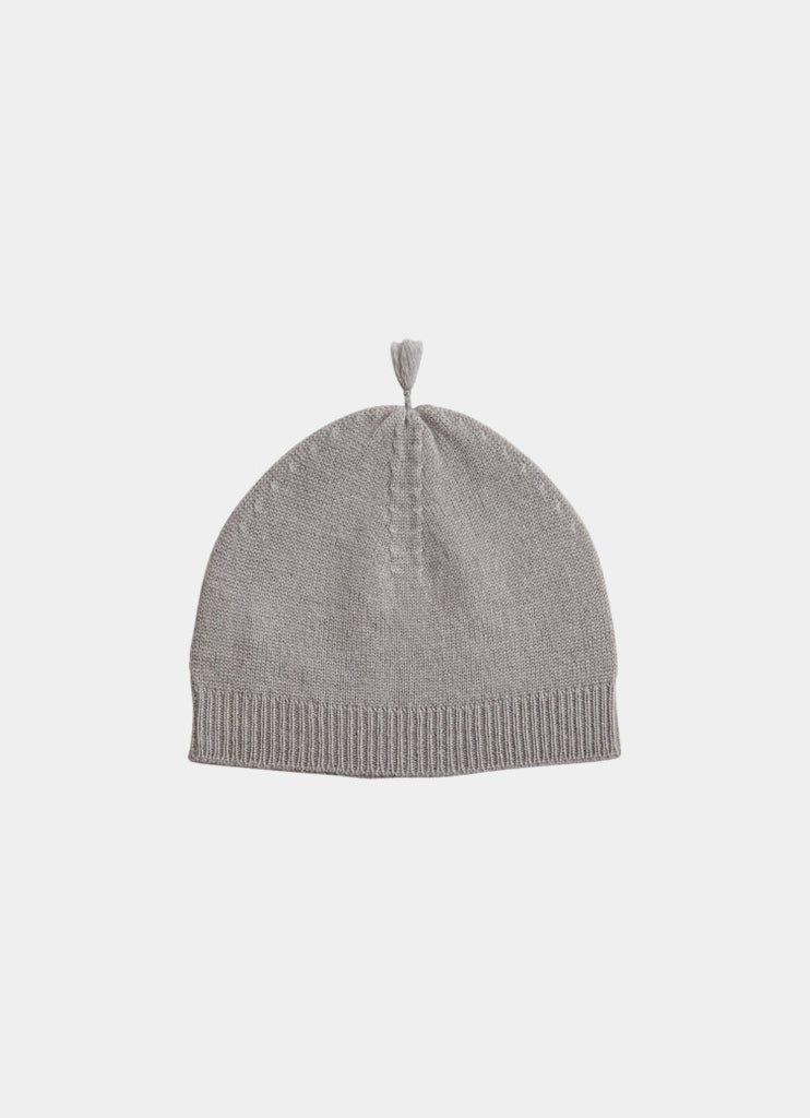 Belle Enfant, Cashmere Tassel Hat- Cloud Grey