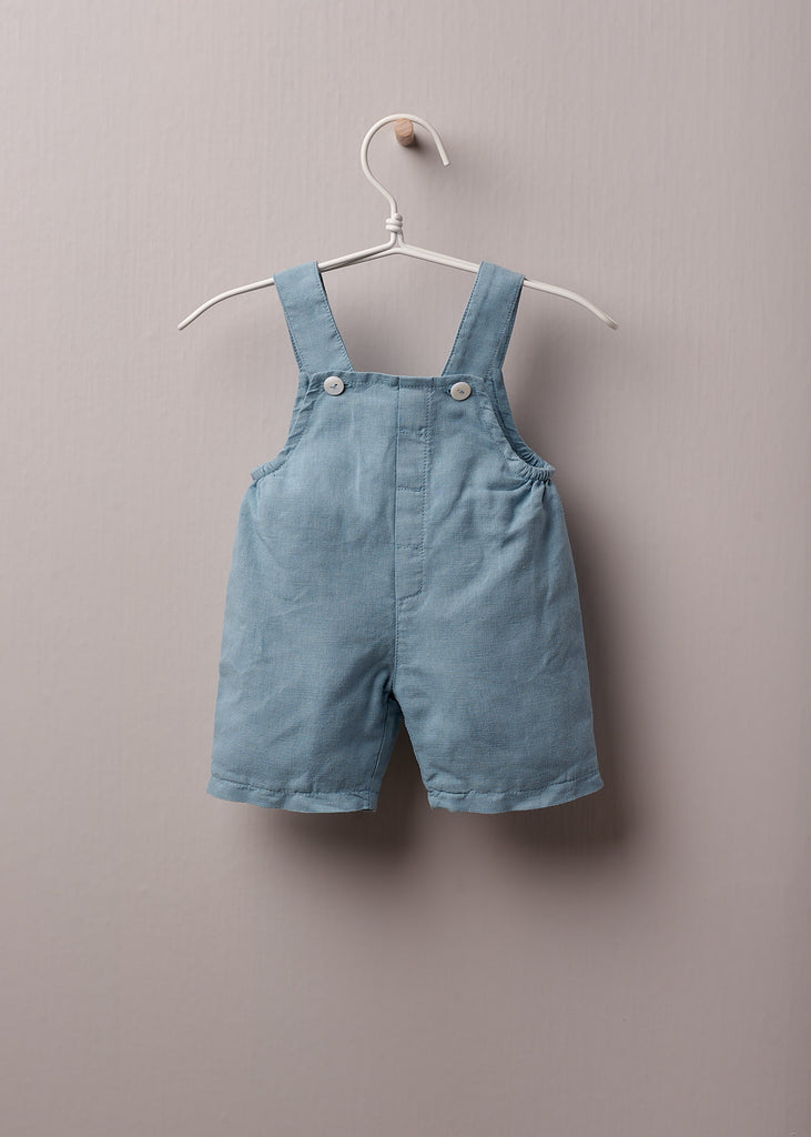 Wedoble - Earth Blue Cotton Classic Dungarees - The Baby Service