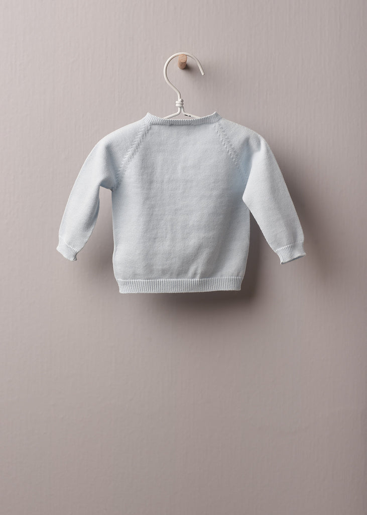 Wedoble - Blue Cotton Sweater - The Baby Service
