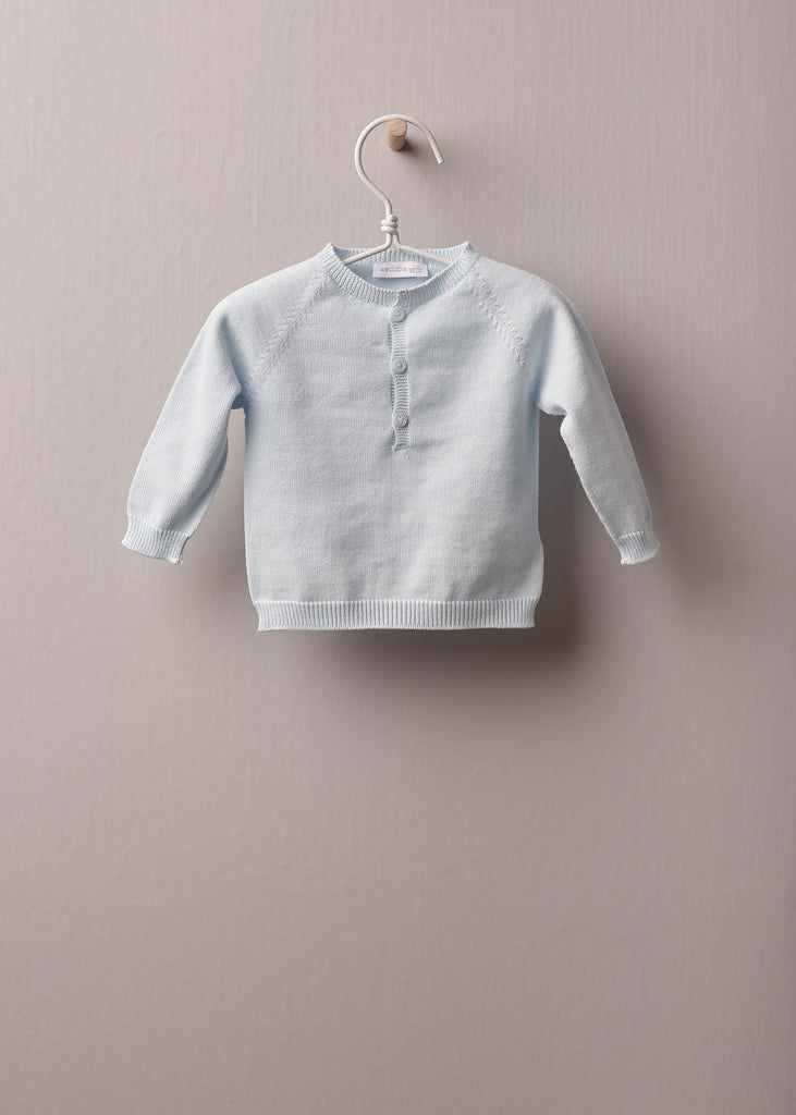 Wedoble - Blue Cotton Sweater  - Children's Clothing - The Baby Service