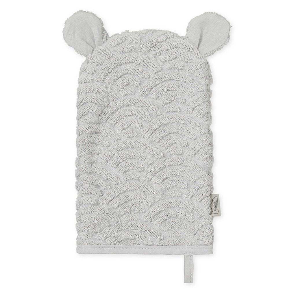Cam Cam Copenhagen New Born Baby Bath Wash Mitt Glove in Grey