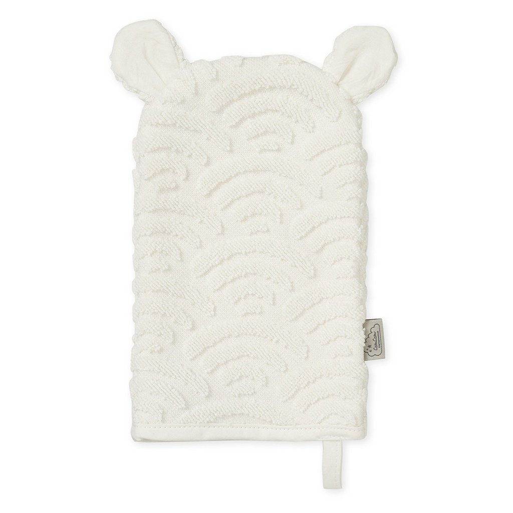 Cam Cam Copenhagen New Born Baby Bath Wash Mitt Glove Multiple Off-White