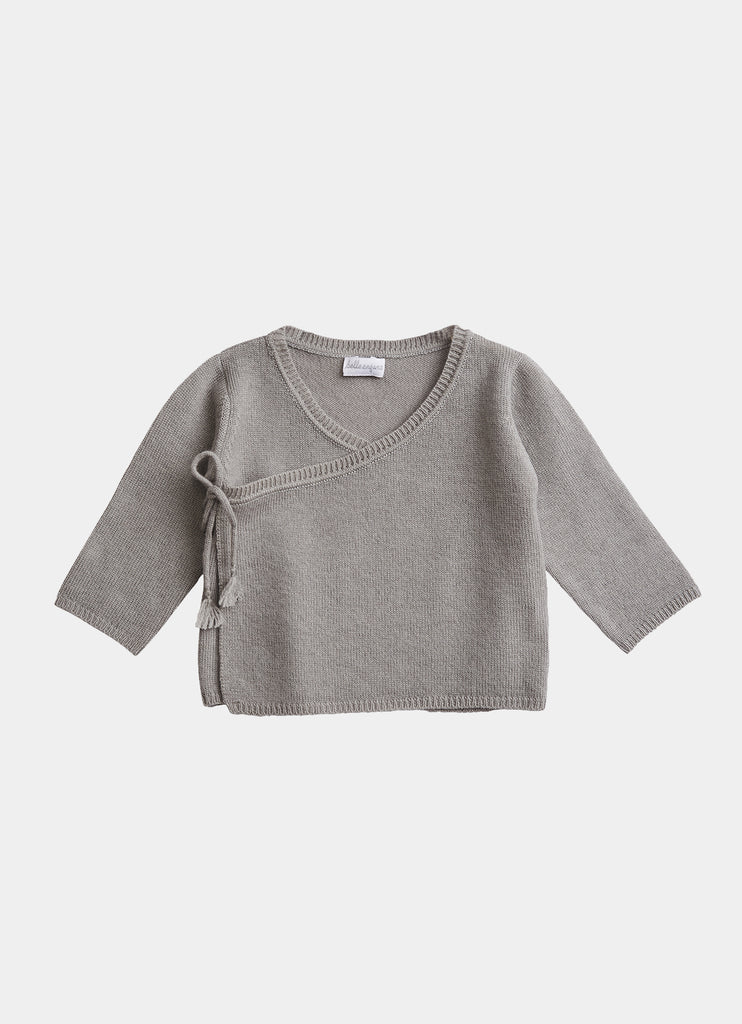 Belle Enfant Cashmere & Merino Outfit Set - Cloud Grey Top
