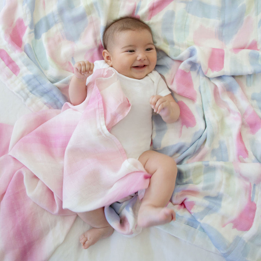 Aden + Anais Florentine Painterly Silky Soft Dream Blanket - The Baby Service