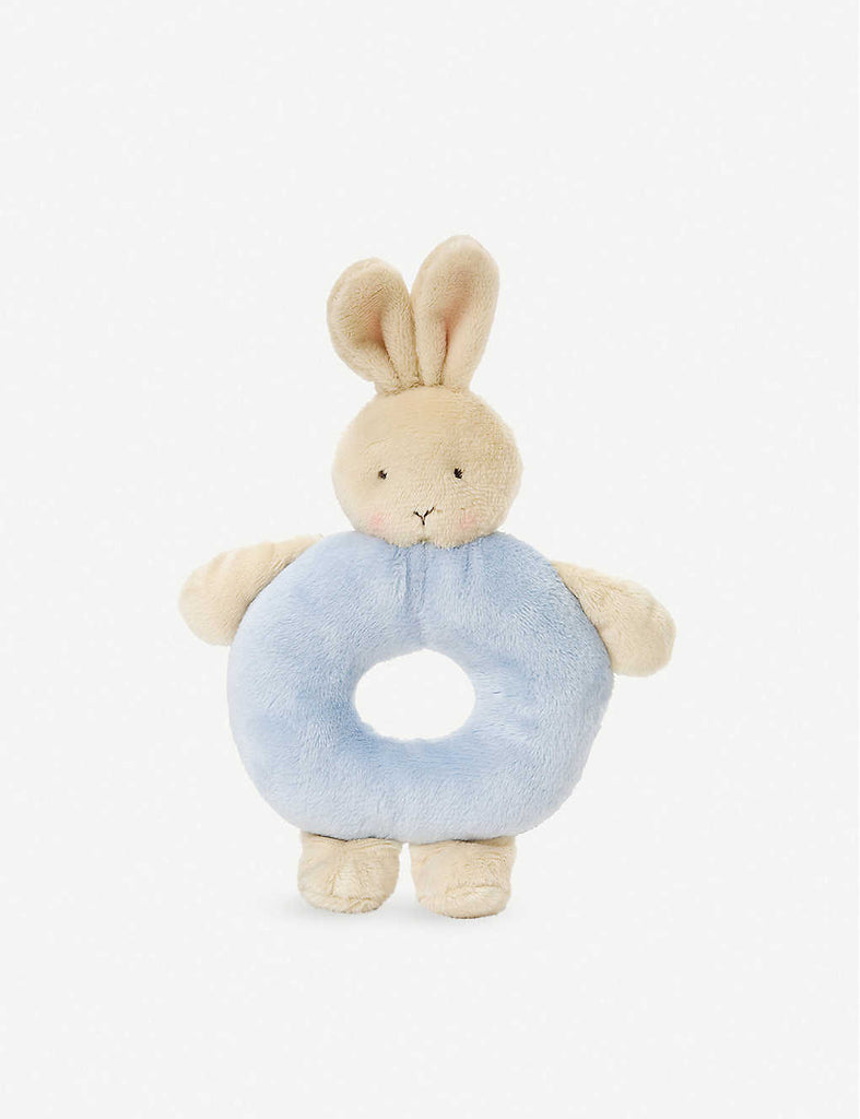 Bunnies By The Bay Ring Rattle - Blue - Baby First Rattle Soft Toy - The Baby Service