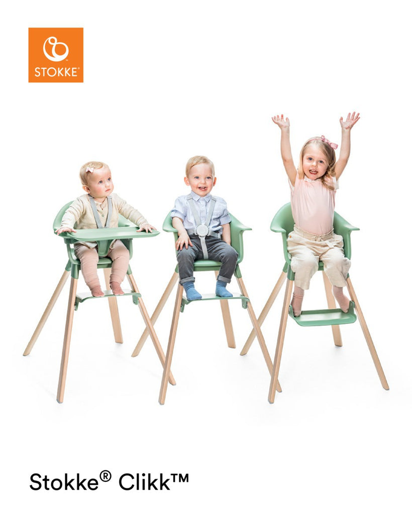 Stokke Clikk Highchair - White Lifestyle - The Baby Service