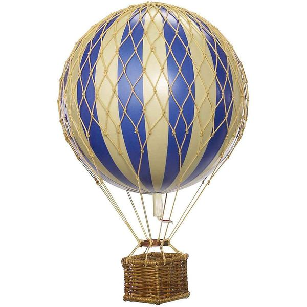 Blue Nursery Authentic Models Floating The Skies Hot Air Balloon - Small