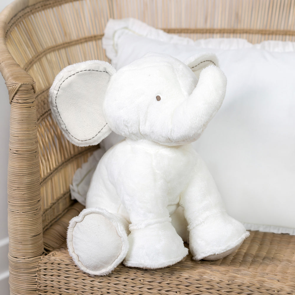 Tartine Et Chocolat - Ferdinand The Elephant in White 25cm - The Baby Service Lifetstyle