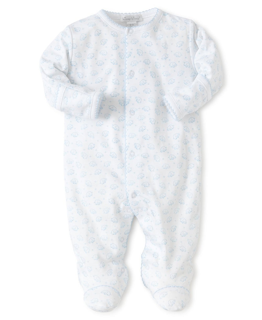 Kissy Kissy - Ele-fun Print Footie Light Blue - The Baby Service - Babygrow