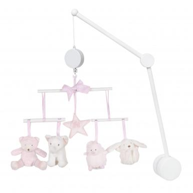 Tartine et Chocolat Pink Musical Mobile Luxury Nursery Decor