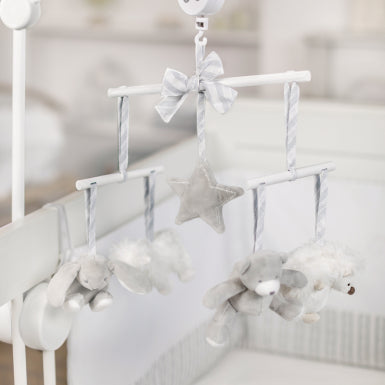 Tartine et Chocolat - Grey Musical Mobile in Nursery