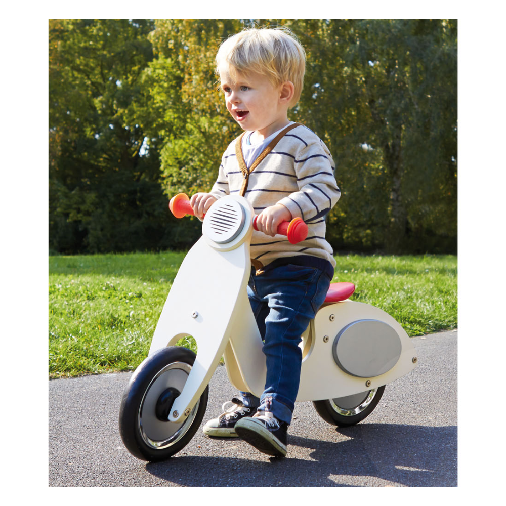 Wooden Vespa Wanda Cream & Silver Balance Bike - Toys & Gifts - The Baby Service Lifetsyle
