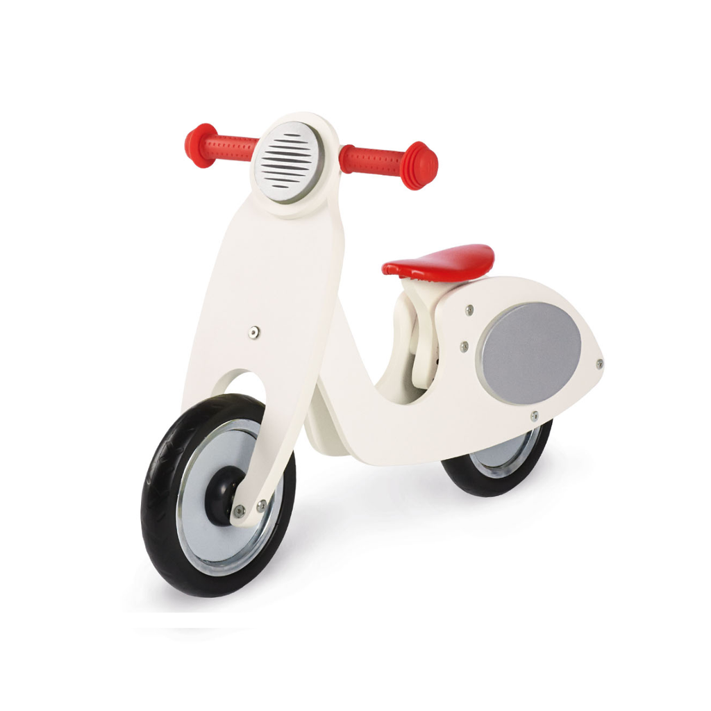 Wooden Vespa Wanda Cream & Silver Balance Bike - Toys & Gifts - The Baby Service