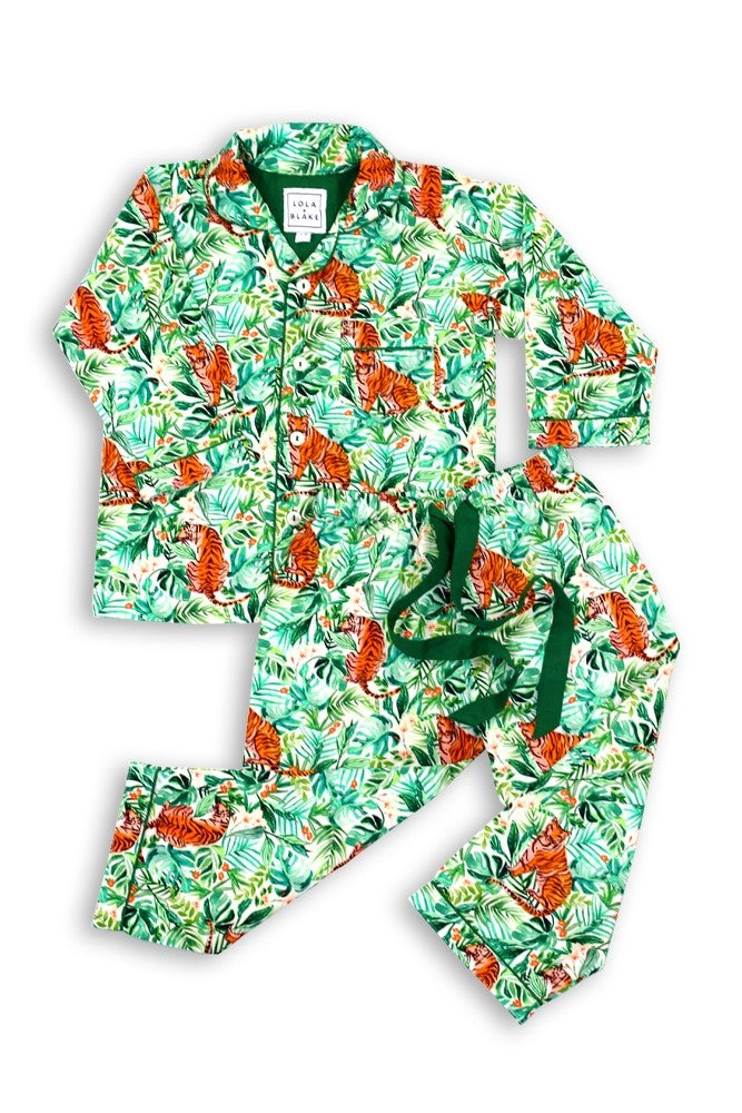 Lola and Blake Jungle Children's Pyjama Set at The Baby Service