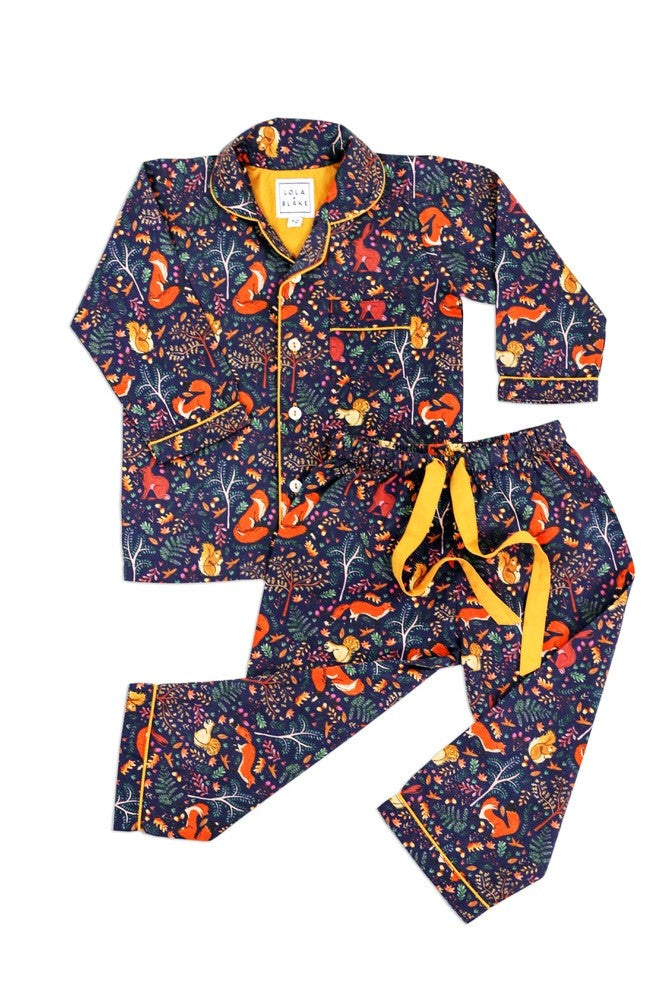 Lola and Blake Woodland Pyjamas 2 Piece Set Beautiful Nightwear at The Baby Service