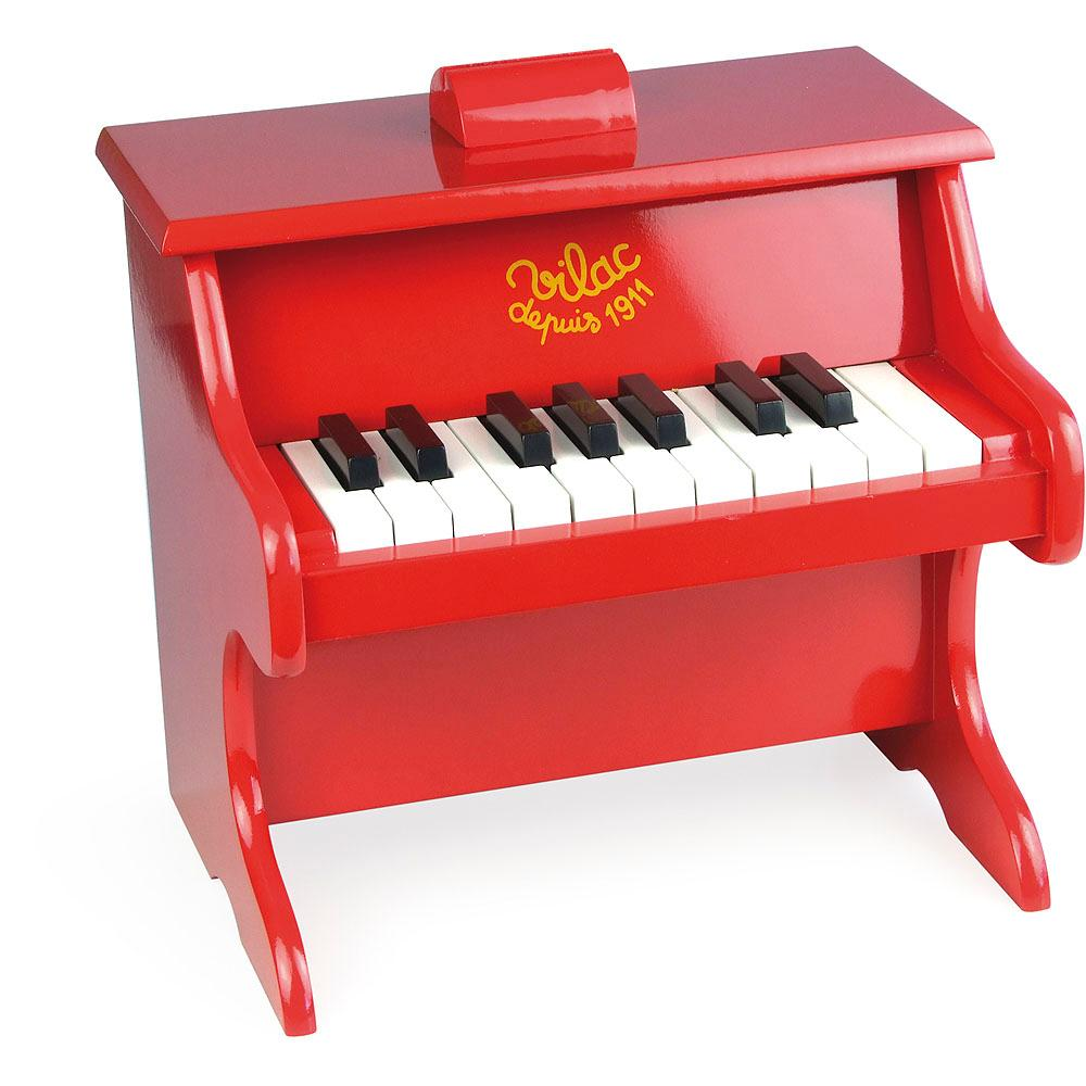 Vilac Red Wooden Children's Mini Piano