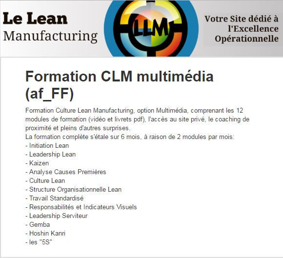 "Formation ""Culture Lean"" Multimédia"