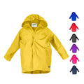 Splashy Nylon Rain Jacket with Snaps