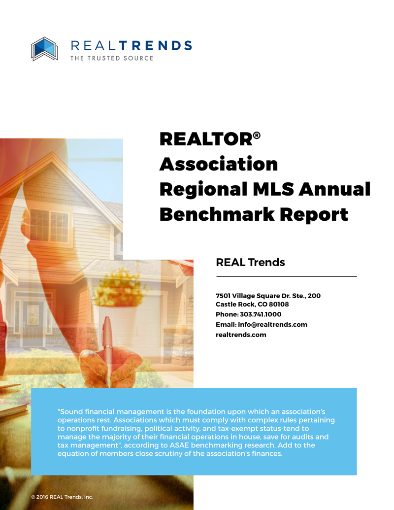2016 REALTOR® Association Regional MLS Annual Benchmark Report