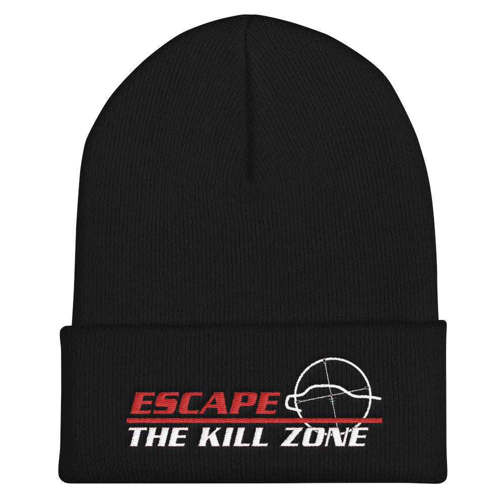 Escape the Kill Zone (TM) Cuffed Beanie - Black and Navy