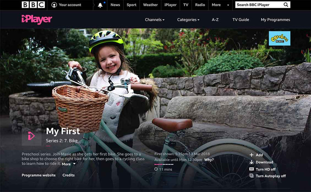 "Cbeebies ""My First Bike"""