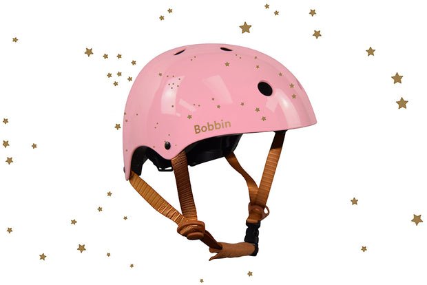 Starling Helmet Pink with Golden Stars S/M