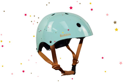 Starling Helmet Green with Multi Stars S/M