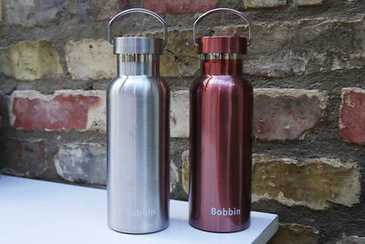 Metallic Rose Steel Water Bottle