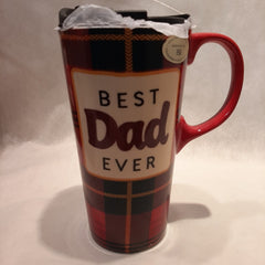 Best Dad Ceramic Travel Cup