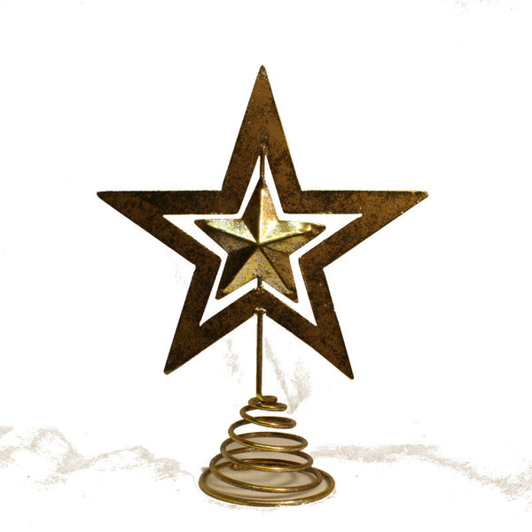 Christmas Tree Star - Silver & Gold