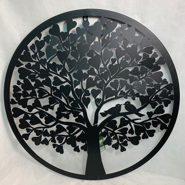 Circle Wall Art Love Birds 24""