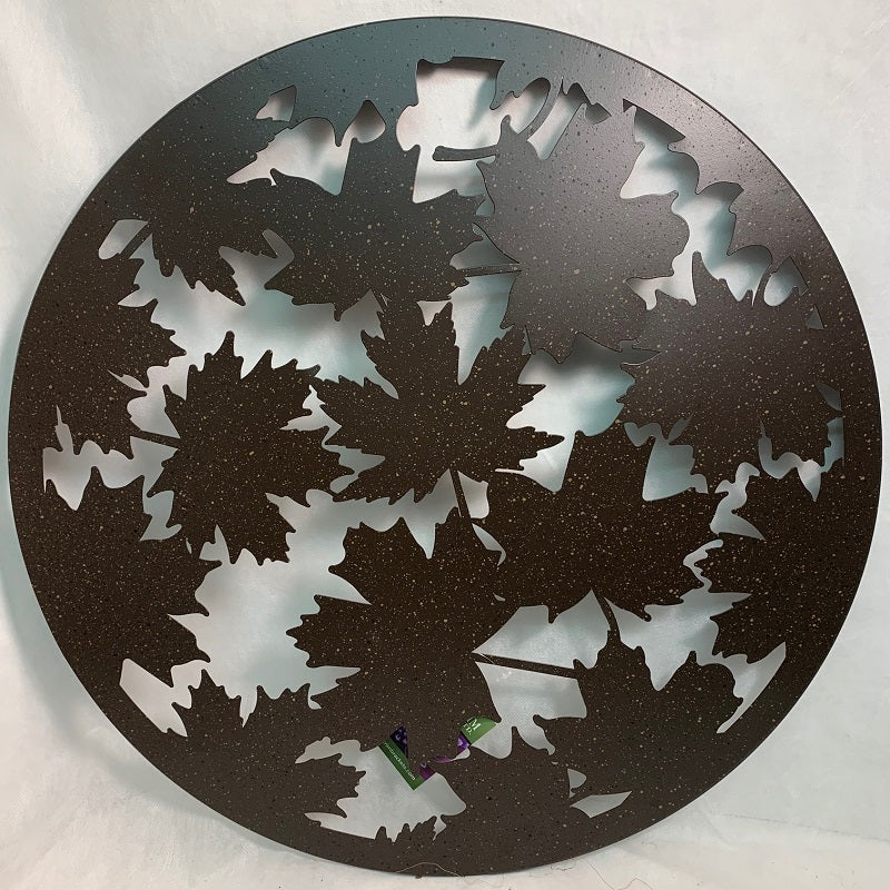 Circle Wall Art Maple Leaf 24""
