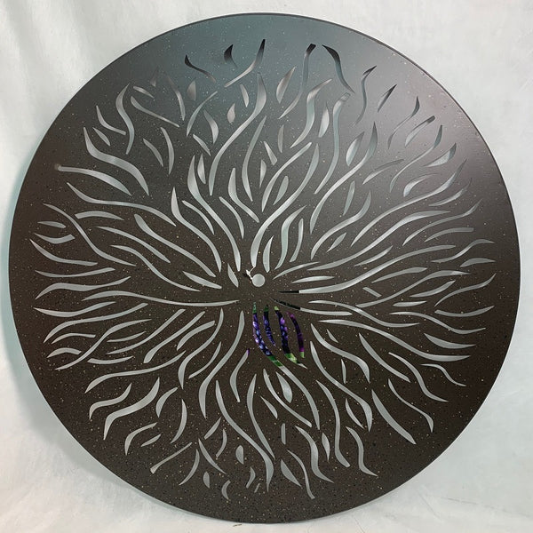 Circle Wall Art Sun Burst 24""