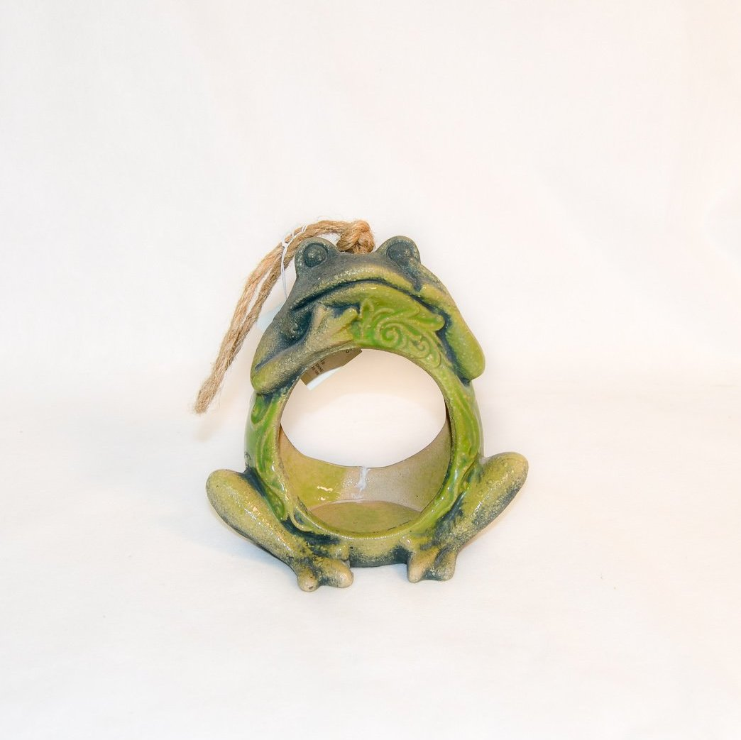 Bird feeder Ceramic Frog