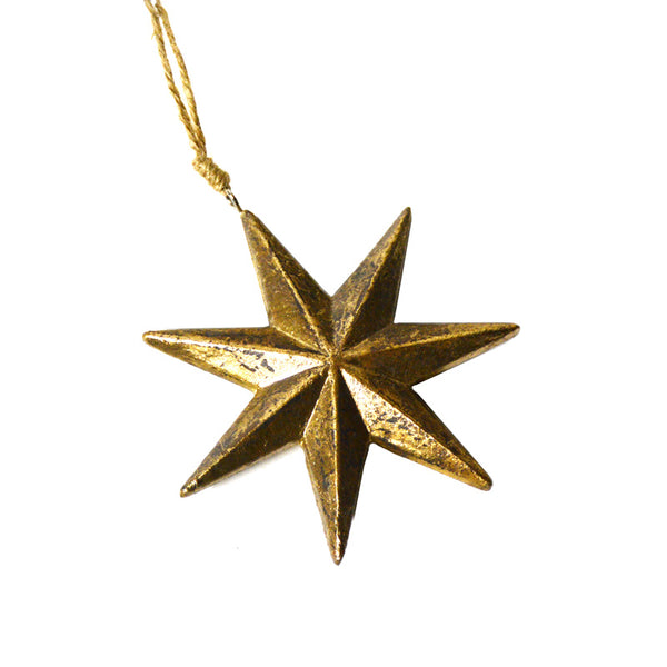 Gold Star Ornament