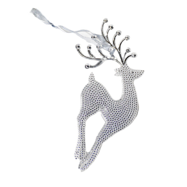 Sequin-Look Deer Ornament