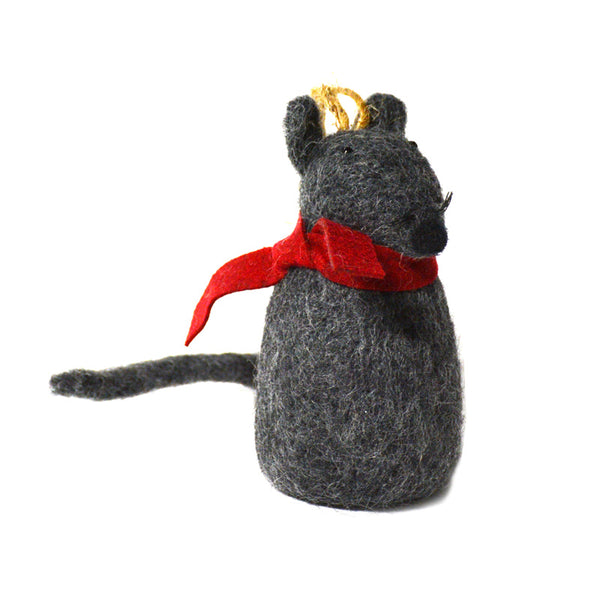 Grey Mouse, Red Scarf