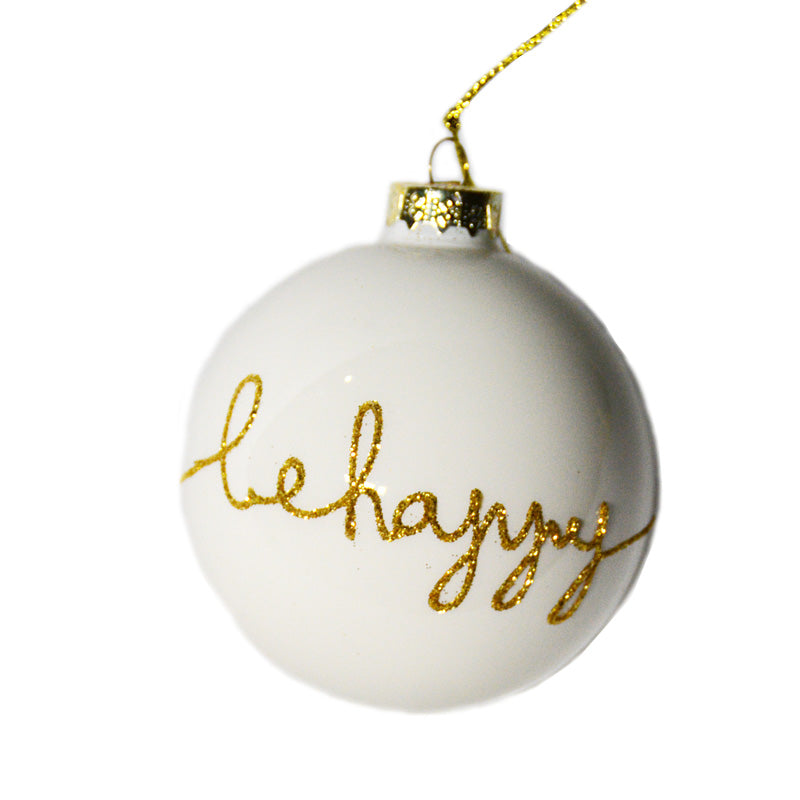 'Be Happy' Ornament