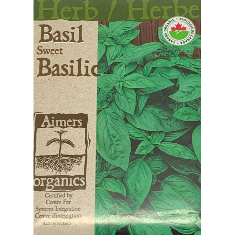 Organic Herb Seeds- Basil Sweet