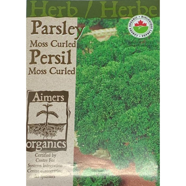Organic Herb Seeds- Parsley Moss Curled