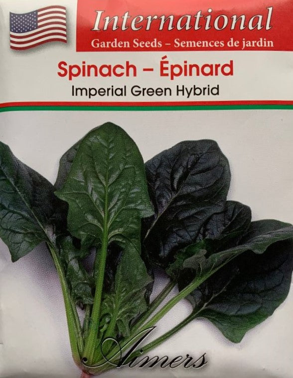 Spinach Seeds- Imperial Green Hybrid