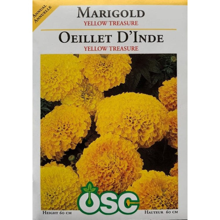 Marigold Seeds- Yellow Treasure