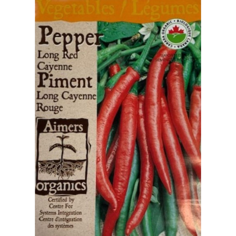 Organic Pepper Seeds- Long Red Cayenne