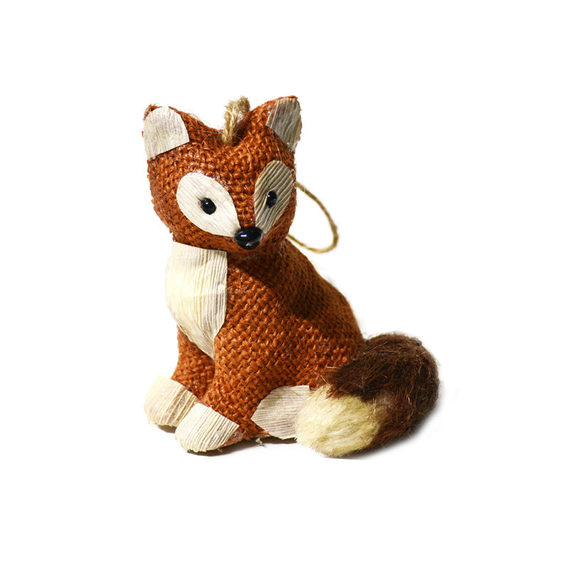 Red Burlap Fox