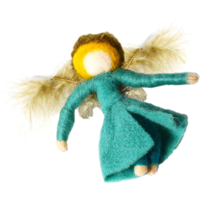 Wool Angel Ornament- Blonde Hair