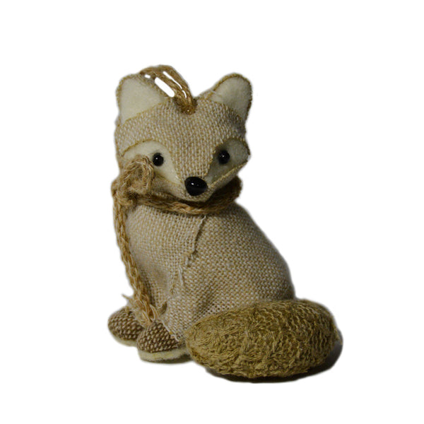 Burlap Fox Ornament