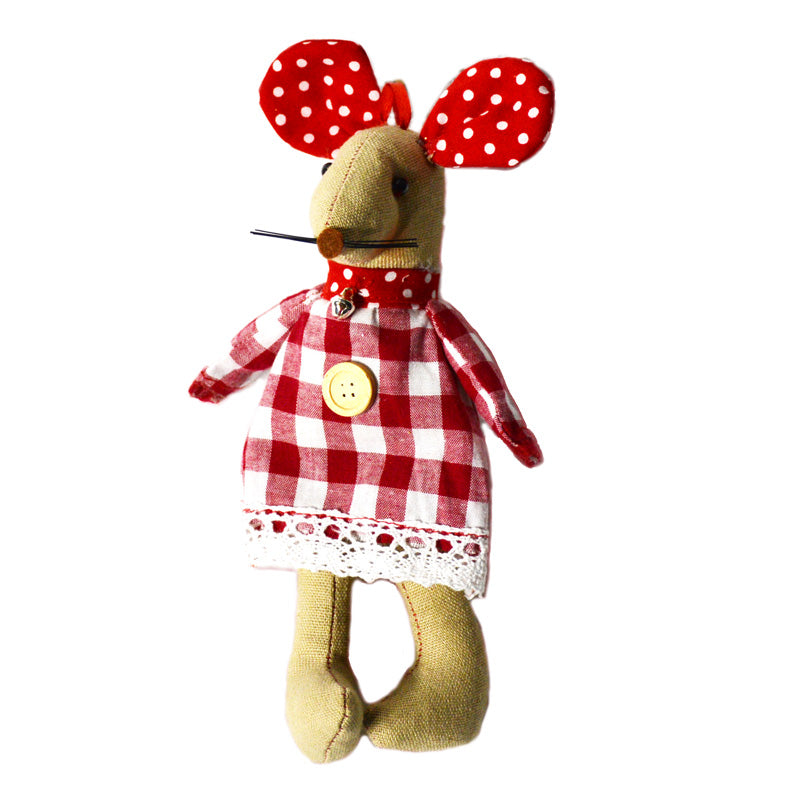 Gingham Mouse Ornament